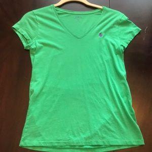 Green v neck Ralph Lauren t shirt